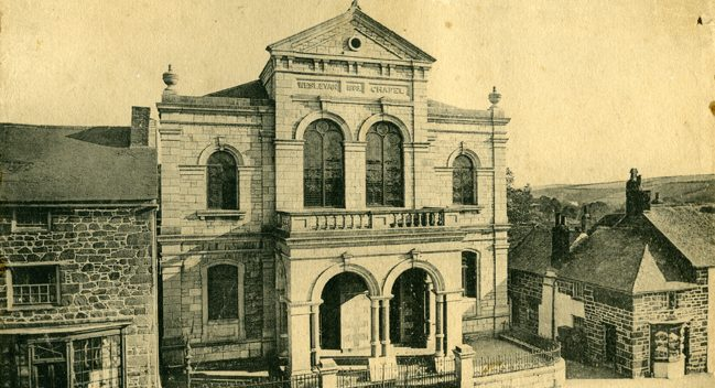 Helston Central Methodist Church about 1900