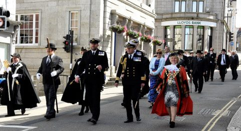 Helston Freedom Parade at the Guildhall