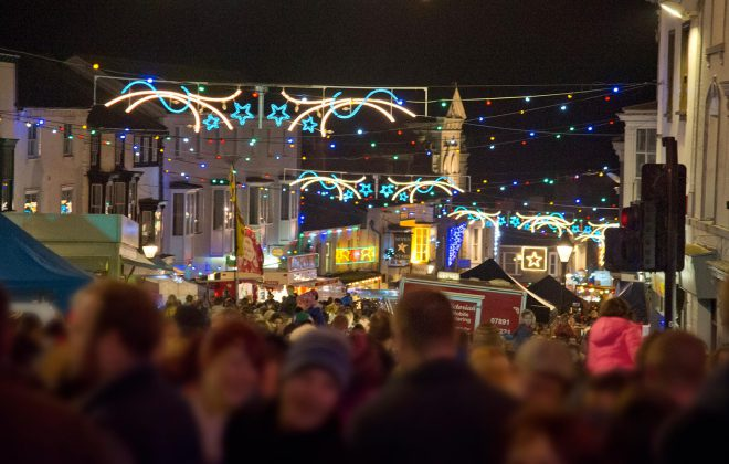 Helston Lights Switch on evening